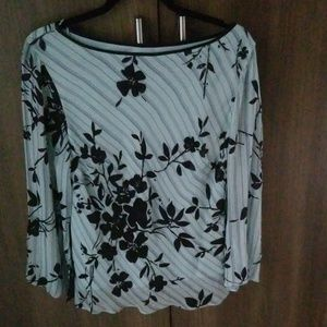Adrianna Papell Boutique Xl Blue Sequenced Top